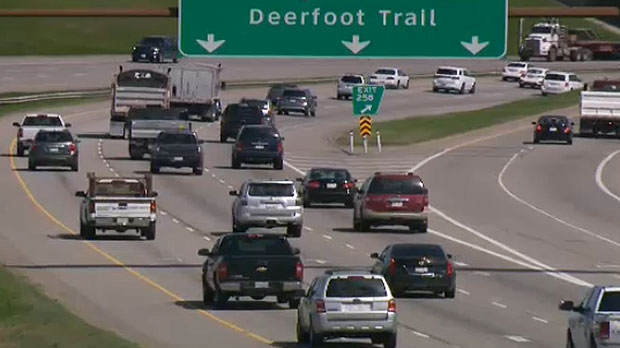 The idea is to get vehicles on and off of Deerfoot Trail safely and more efficiently.