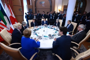 G7 leaders sign the G7 Taormina Statement on the Fight Against Terrorism and Violent Extremism at the G7 Summit in Taormina, Italy on Friday, May 26, 2017. THE CANADIAN PRESS / Sean Kilpatrick