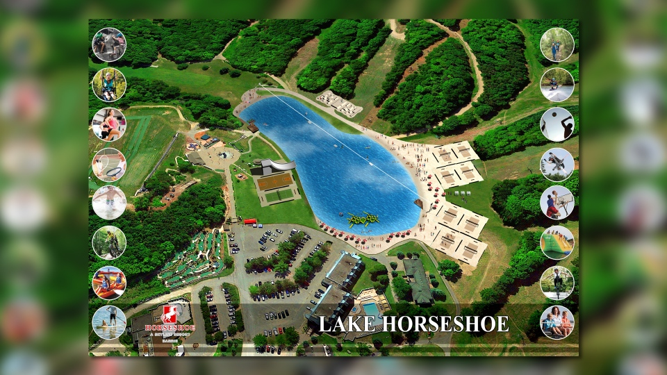 "A rendering of a large man-made lake being built at Horseshoe Resort called ""Lake Horseshoe.""  (Courtesy:Horseshoe Resort)"