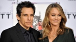 Actor Ben Stiller, left, and wife Christine Taylor during Stiller's Hand & Footprint Ceremony at TCL Chinese Theatre on Tuesday, December, 3, 2013, in Los Angeles. (Richard Shotwell / Invision / AP)