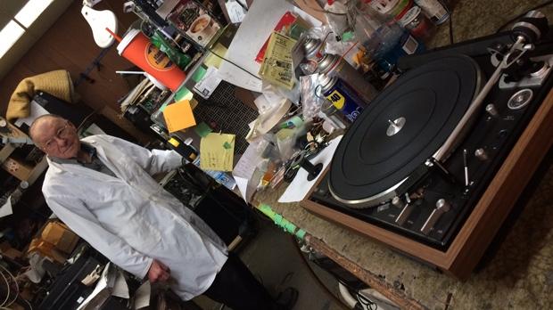 Yaworski, 83, has witnessed the rise, fall and rebirth of vinyl. (Josh Crabb/CTV Winnipeg)