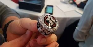 Ottawa REDBLACKS quarterback Trevor Harris shows off his 2016 Grey Cup championship ring. (Ottawa REDBLACKS / Twitter)