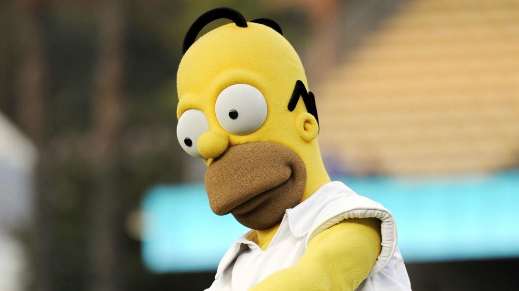 Homer Simpson mlb