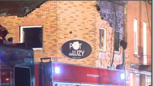 Montreal police are investigating a suspicious fire in the Outremont pizzeria Pot de Luzy.