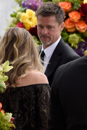 Brad Pitt attends a memorial service for Chris Cornell at the Hollywood Forever Cemetery on Friday, May 26, 2017, in Los Angeles. (Photo by Chris Pizzello/Invision)