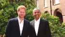 Prince Harry hosted former U.S. President Barack Obama at Kensington Palace. (Kensington Palace/Twitter)