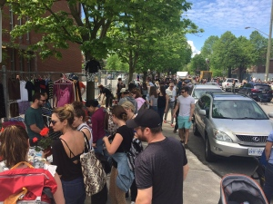 Bargain hunters flock to the Glebe