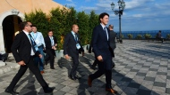 Prime Minister Justin Trudeau leaves his closing press conference following the G7 Summit in Taormina, Italy on Saturday, May 27, 2017. THE CANADIAN PRESS/Sean Kilpatrick