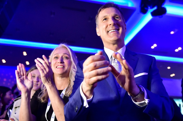 Candidate Maxime Bernier at the federal Conservative leadership convention in Toronto on Saturday, May 27, 2017. (Frank Gunn / THE CANADIAN PRESS)