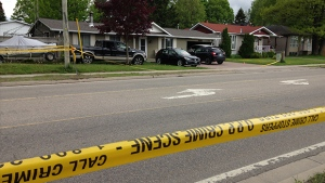 Seen here, the scene of a death investigation in Bracebridge, Ont. on May 27, 2017 (CTV Barrie KC Colby)