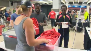Scotiabank Calgary Marathon package distribution