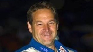 Stock car racer Guy Ouellet died after crashing his vehicle during a race in Drummondville on Saturday night. (Photo via Facebook)