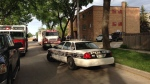 Winnipeg police were called the scene of a possible drug overdose in which fentanyl may have played a role Saturday afternoon. (Photo: Beth Macdonell/CTV Winnipeg)