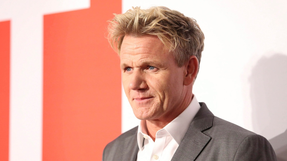 Gordon Ramsay arrives at the 2016 The Film is GREAT Reception at Fig & Olive on Friday, Feb. 26, 2016, in West Hollywood, Calif. (Photo by Omar Vega/Invision/AP)