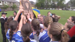 Grand River Collegiate Institute girls soccer teams wins the CWOSSA title over Resurrection Catholic Secondary School.