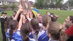 Grand River Collegiate Institute girls soccer teams wins the CWOSSA title over Resurrection Catholic Secondary School.
