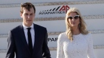 Ivanka Trump and her husband Jared Kushner arrive at Fiumicino's Leonardo Da Vinci International airport, near Rome, Tuesday, May 23, 2017. Trump is in Italy for a two day visit, including a meeting with Pope Francis at the Vatican, ahead of his participation in a NATO meeting in Brussels on Thursday. (AP Photo/Andrew Medichini)