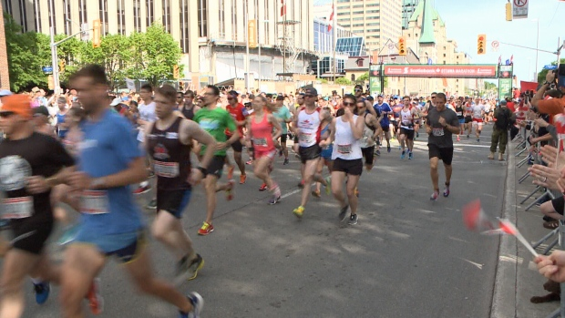 Runners at Ottawa Race Weekend 2017