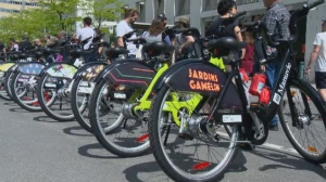 375 uniquely designed Bixi bicycles were unveiled on Sunday, part of the celebrations for Montreal's 375th anniversary.