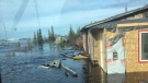 Some cottages and homes in Goose Creek flooded this week as water levels on the Churchill River rise. (Source: Ricci O'Connor/Facebook)