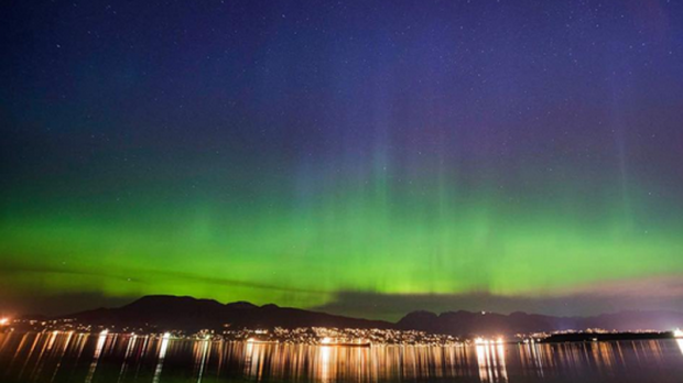 A rare solar storm lit up the skies over Vancouver on May 28, 2017. (Instagram/Wilson Ho Photography)