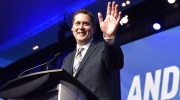 Andrew Scheer speaks after being elected the new leader of the federal Conservative party at the federal Conservative leadership convention in Toronto on Saturday, May 27, 2017. Prime Minister Justin Trudeau and his new foe in the House of Commons, Conservative leader Andrew Scheer, spoke by phone today. Trudeau called Scheer from Italy, where the prime minister is currently on a state visit following the G7 summit. THE CANADIAN PRESS/Frank Gunn