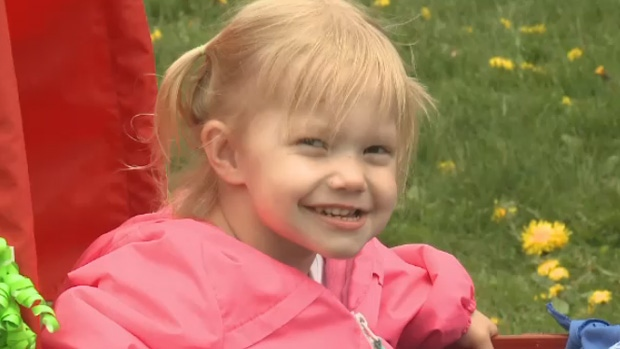 Tiffany Wilson's three-year-old daughter is living with cystic fibrosis.