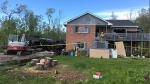 A fire destroyed a home in Oro-Medonte on May 28, 2017 (CTV Barrie Chris Garry)