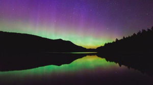 A large geomagnetic solar storm visible created a stunning opportunity for stargazers and photographers to catch a glimpse of Aurora Borealis this weekend. The Northern Lights are a result of a coronal mass ejection – or CME – hitting earth's magnetic field on Saturday. (Rolley Lake, B.C., captured by Instagram.com/evanbeer)