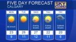 Calgary forecast May 28, 2017