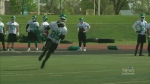 Duron Carter attends Riders training camp