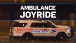 Stolen ambulance taken for 400-km joyride