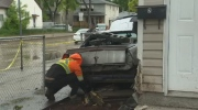 Car crashes into house in North End