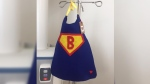 Michelle Campbell found this tiny superhero cape hanging up beside her newborn son Benjamin's incubator in the NICU.