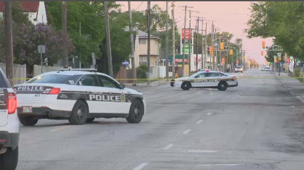 Ellice Avenue remained closed Monday morning between Sherbrook and Furby streets while police investigated.
