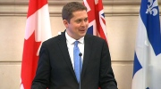 Andrew Scheer addresses caucus