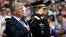 U.S. President Donald Trump participates in a wreath laying ceremony at Arlington National Cemetery, Monday, May 29, 2017, in Arlington, Va. (AP / Evan Vucci)