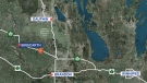 Police said the crash happened Sunday at 5:40 p.m. on Highway 16, about 15 kilometres south of Binscarth, Man.