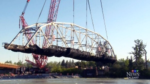 CTV Calgary: Historic Zoo Bridge comes down