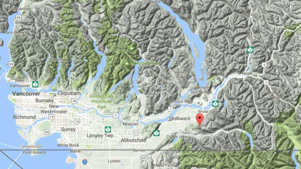 Agassiz RCMP and Kent Harrison Search and Rescue are searching for a missing paraglider in the region of Elk Mountain. (Google Maps).