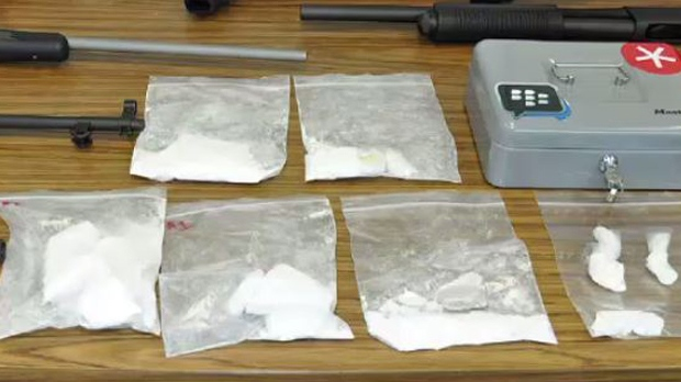 Cocaine and other items were seized from homes in Kitchener and Waterloo in February 2015. (Waterloo Regional Police)
