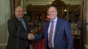 NDP Leader John Horgan and Andrew Weaver of the Green party announce an agreement they say would allow for a stable minority government for the next four years. May 29, 2017. (CTV)