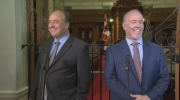 John Horgan and Andrew Weaver say they'll work together in order to topple the existing B.C. Liberal government.