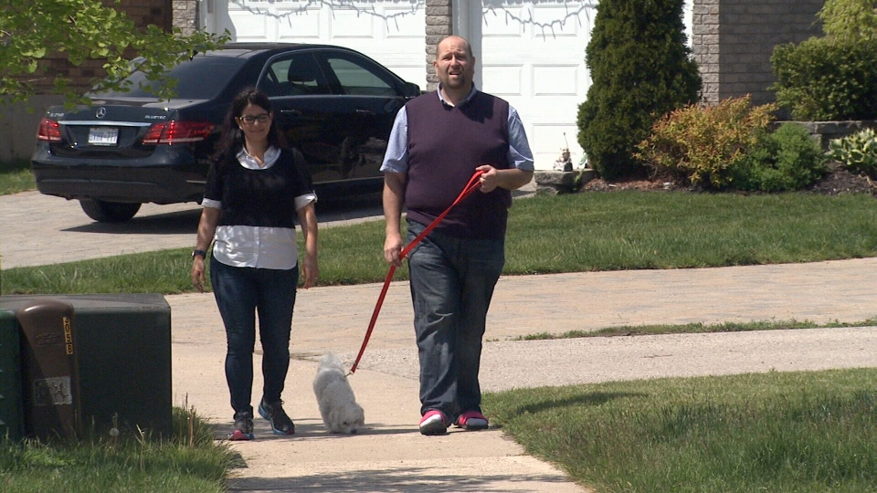 Barrie, Ont.'s Naomi Leichner is at the centre of a class-action lawsuit against the makers of a hernia mesh. (Mike Walker/ CTV Barrie)