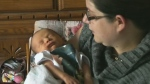 New mom thanks first responders who delivered baby