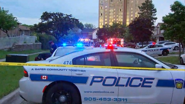 Police investigate following a fatal shooting on Bishopstoke Lane in Mississauga Monday May 29, 2017.