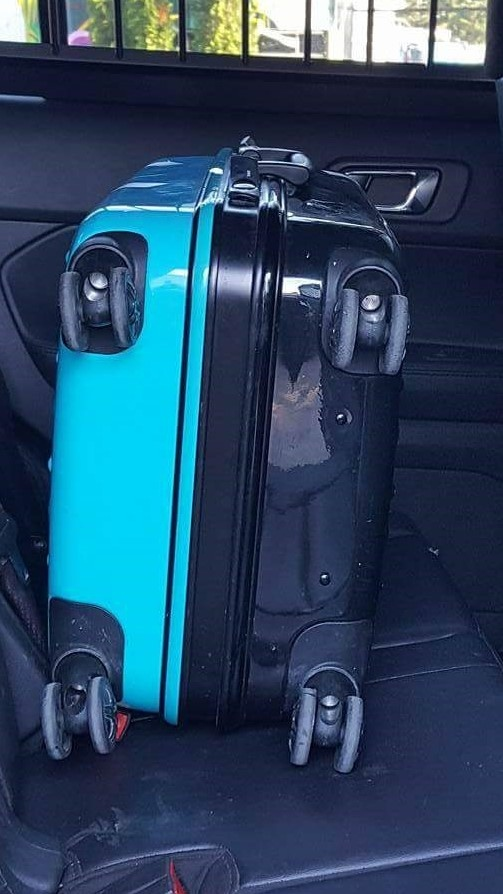 This is the suitcase Donut was found locked inside of. (CTV)