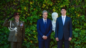 Prime Minister Justin Trudeau meets with Italian Prime Minister Paolo Gentiloni at Villa Madama in Rome, Italy on Tuesday, May 30, 2017. THE CANADIAN PRESS/Sean Kilpatrick