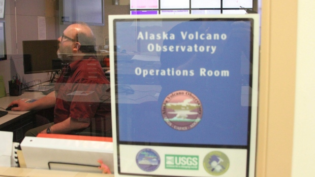 Dave Schneider at the Alaska Volcano Observatory operations centre in Anchorage, Alaska, on March 29, 2016. (Mark Thiessen / AP)