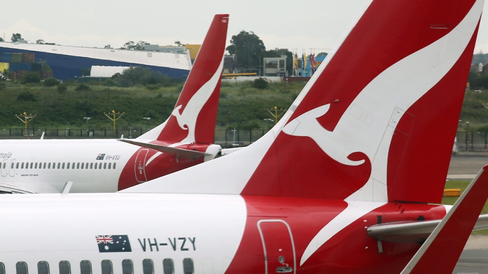 Qantas planes at Sydney Airport on Feb. 26, 2015. (Rick Rycroft / AP)